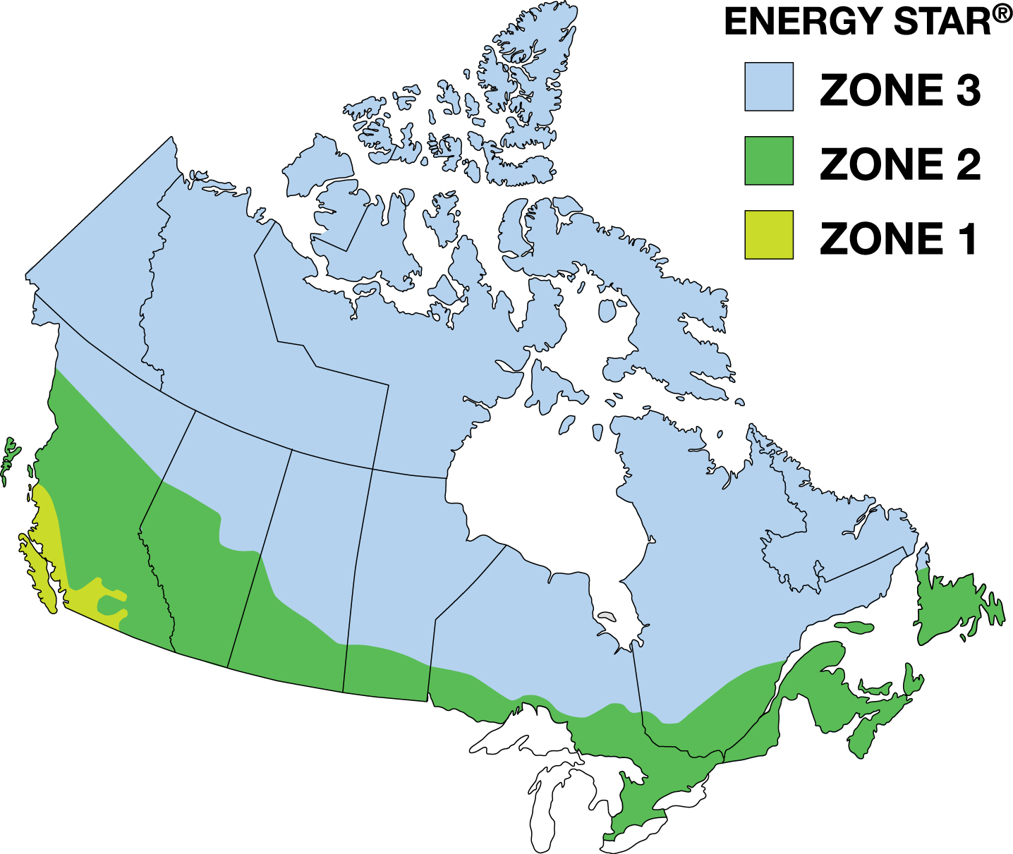 Energay Star Climate Map Canada