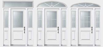 doors with sidelight and transom